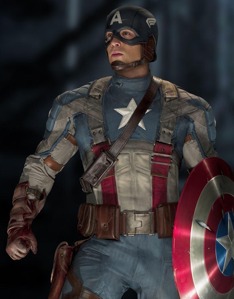 Captain America, toujours prêt à défendre son pays (Chris Evans)