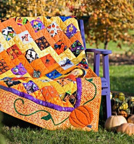Kết quả hình ảnh cho simple Halloween quilt