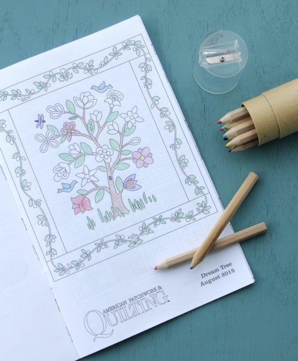 Quilt Block Popular Easy Coloring Pages Free On Log Wall