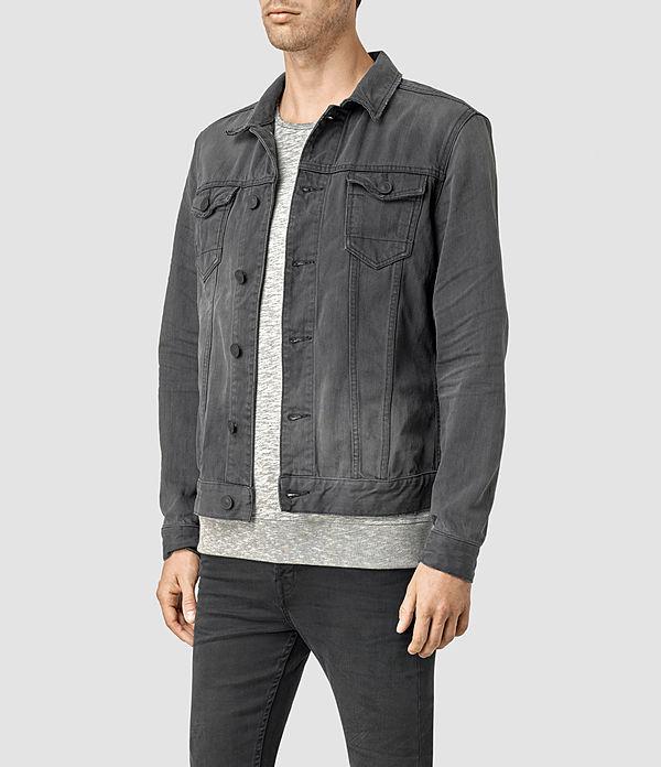 Men's Eucild Denim Jacket (Grey) - product_image_alt_text_2