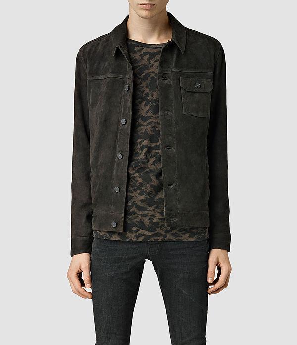 Men's Halber Suede Jacket (Anthracite) -