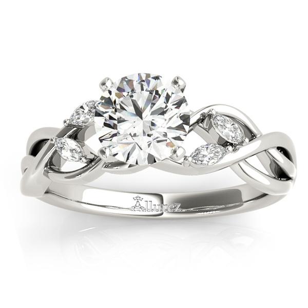 Diamond Marquise Vine Leaf Engagement Ring Setting 14k