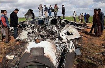تحطم طائرة مقاتلة أمريكية في ليبيا