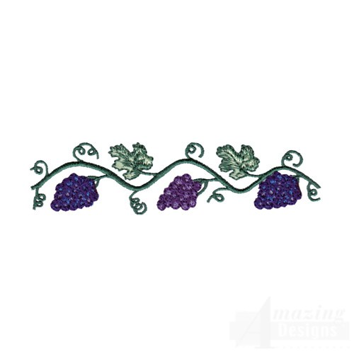 border grapes colouring pages