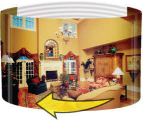 Turn photos into 360 degree Web panoramas and spin around your scene online.