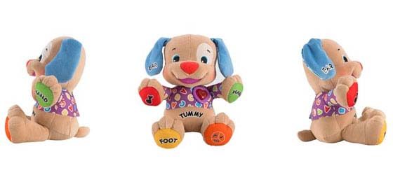 Introduces letters, numbers, counting, parts of the body, feelings & more