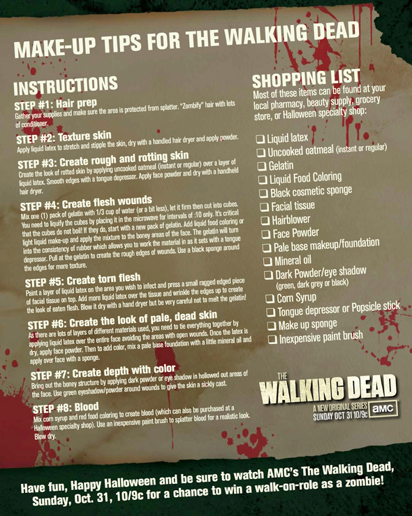 The walking Dead Make Up Tips