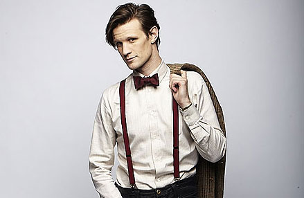 Matt Smith's Doctor wearing braces