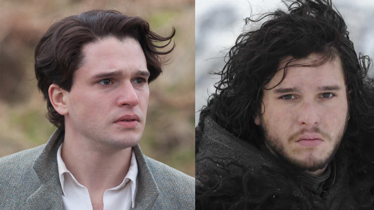 Image result for kit harington beard and no beard