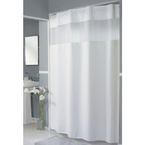 hookless pique waffle shower curtain white 71 x 77