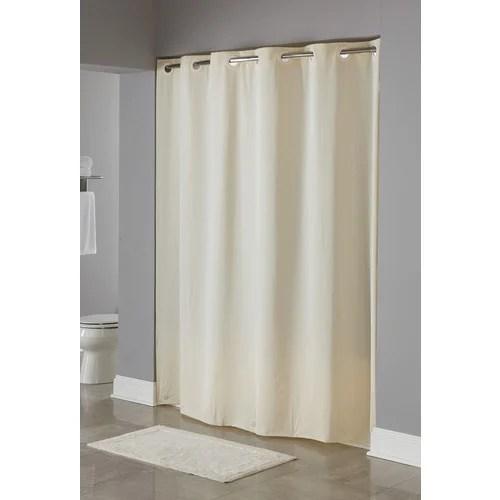 hookless vinyl shower curtain beige 71 x 74