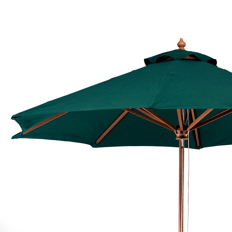registry wood pole patio umbrella 9 ft dia hunter green