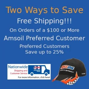 Two Ways to Save Buying Amsoil