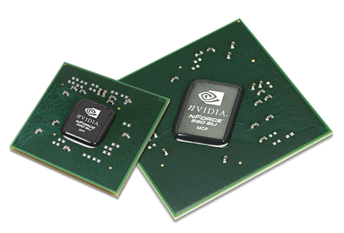 Nvidia nforce 500 SLI chipset,the latest offering from nvidia