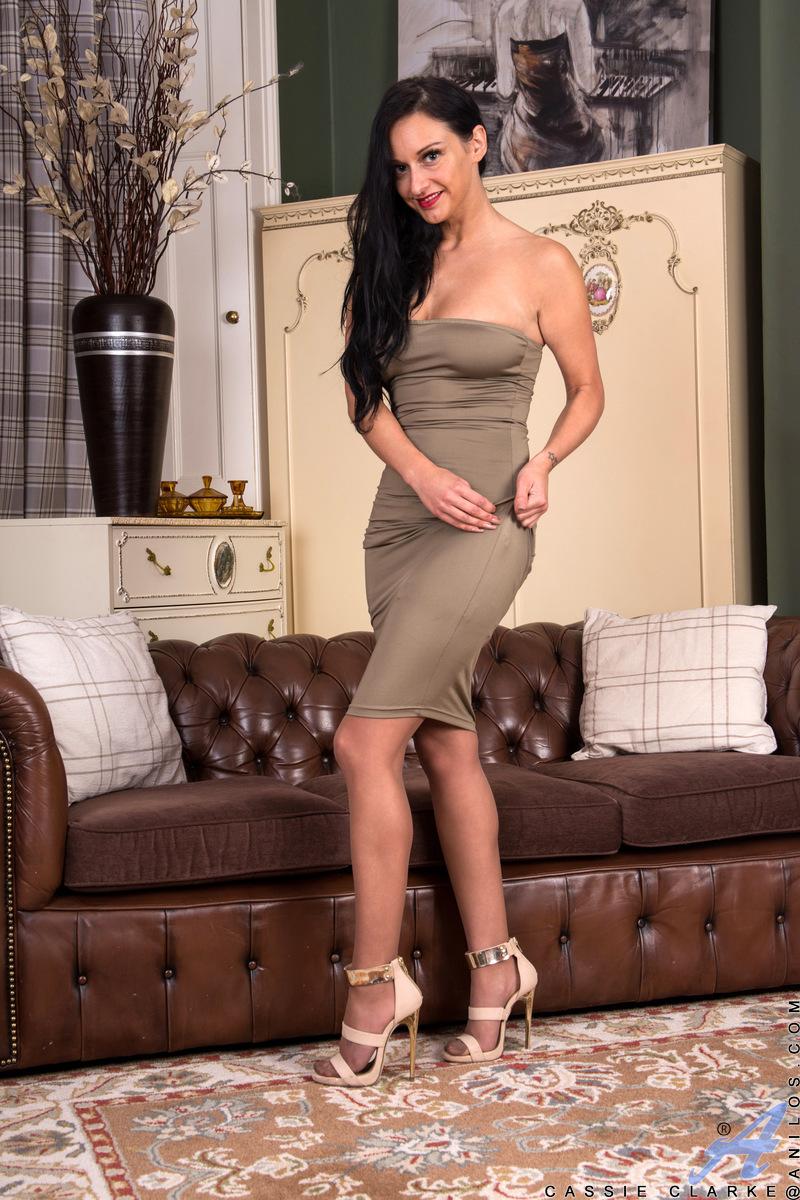 Anilos.com - Cassie Clarke: Tight Dress