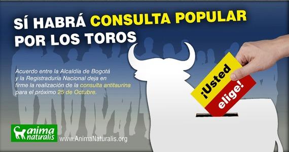 ¡Gran noticia! Vía libre a consulta antitaurina en Bogotá para el próximo 25 de octubre