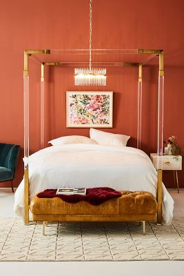 Oscarine Lucite Four Poster Bed Anthropologie