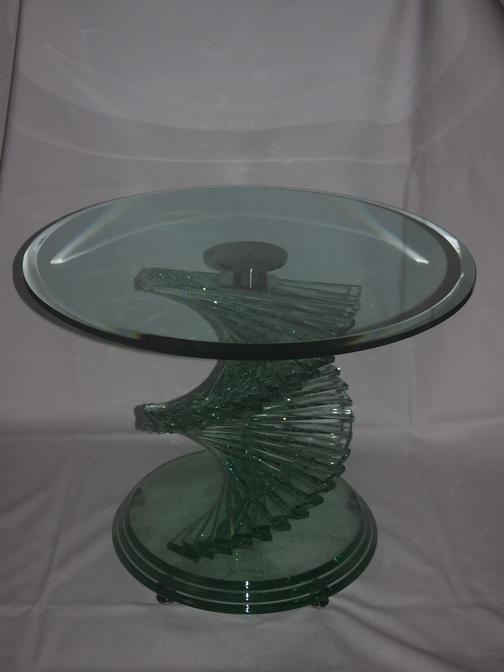 Antiques Atlas Heavy Glass Spiral Coffee Table