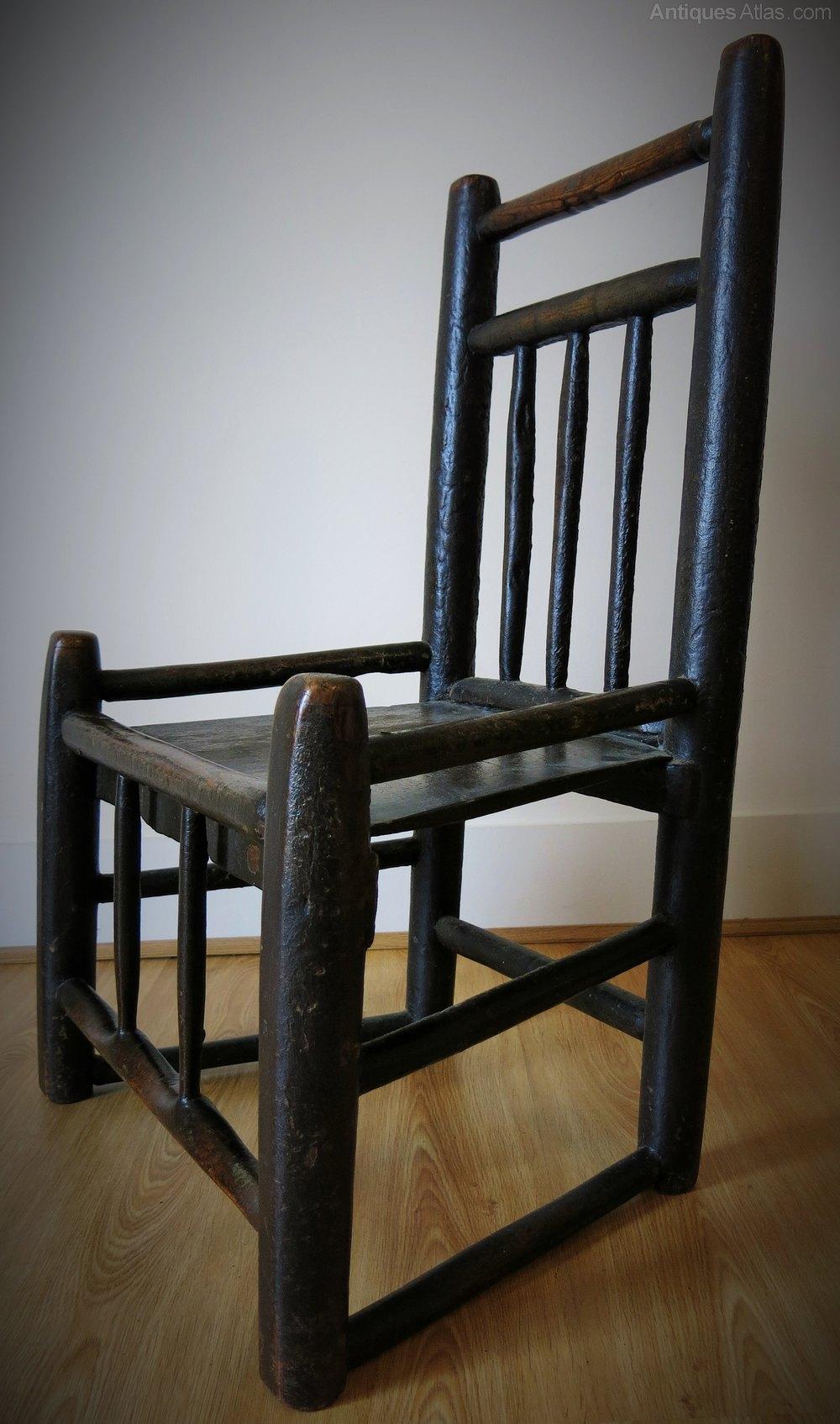 Primitive Painted Ash Turners Chair 18thC Antiques Atlas