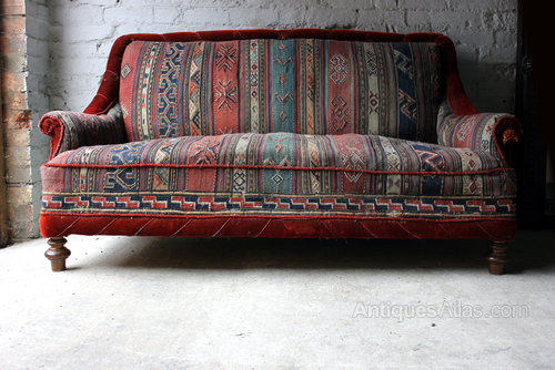 A Good C 1940 Two Seater Kelim Upholstered Sofa Antiques Atlas