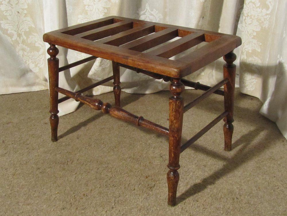 a victorian mahogany luggage rack