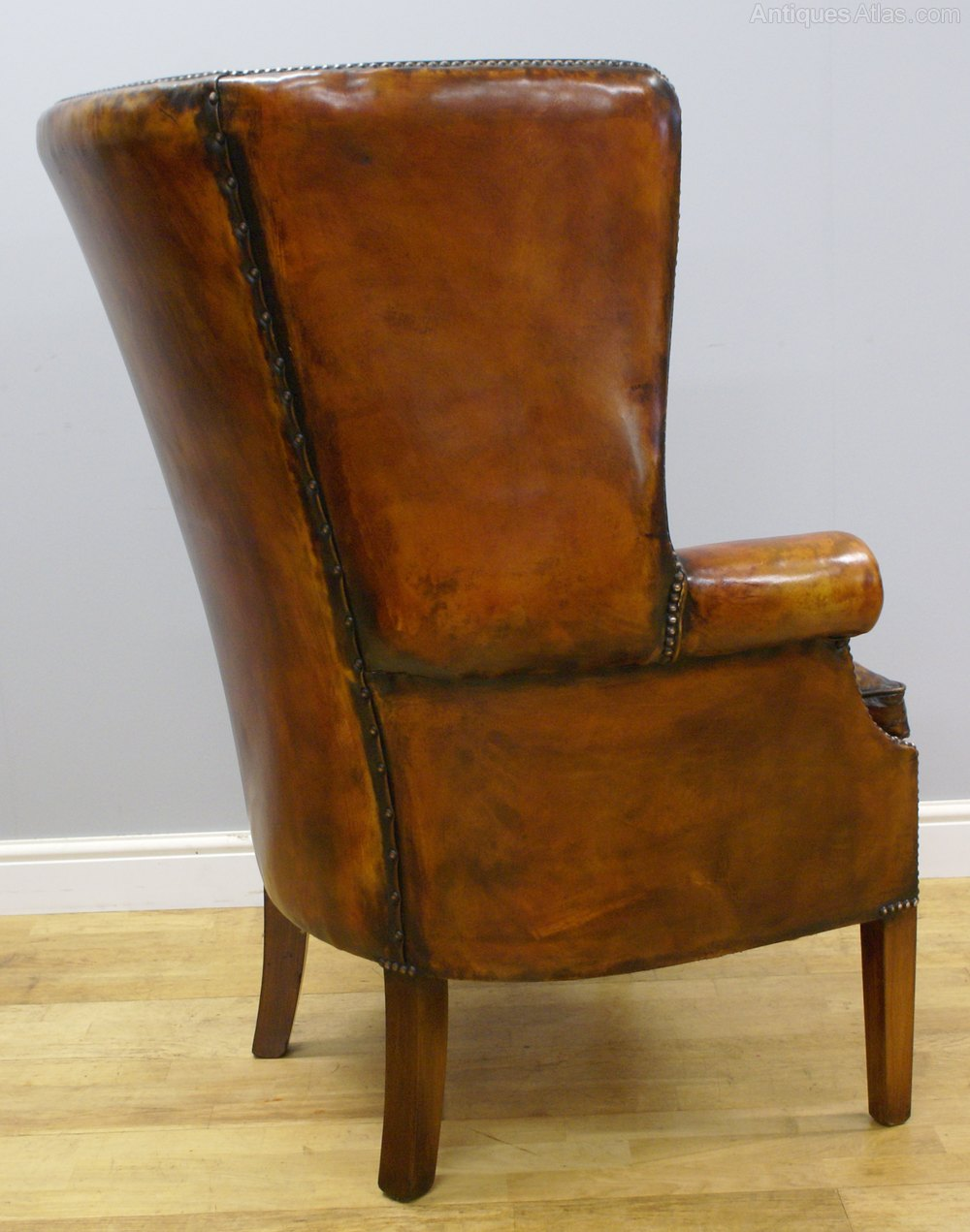 A Georgian Style Barrel Back Wing Chair Antiques Atlas