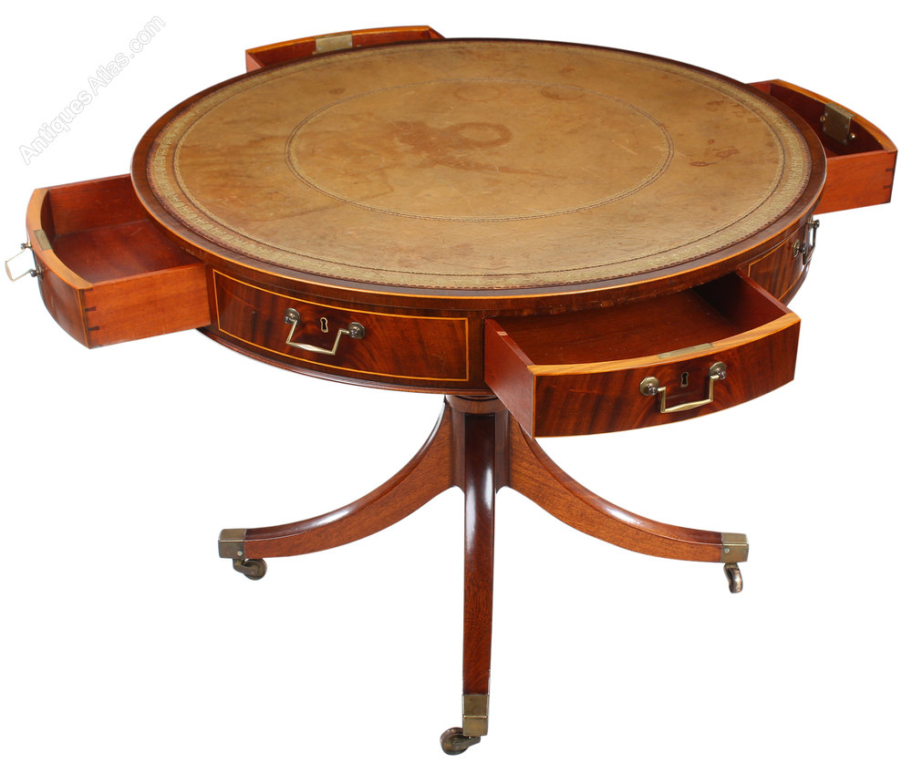 Antiques Atlas Mahogany Drum Table By William Tillman