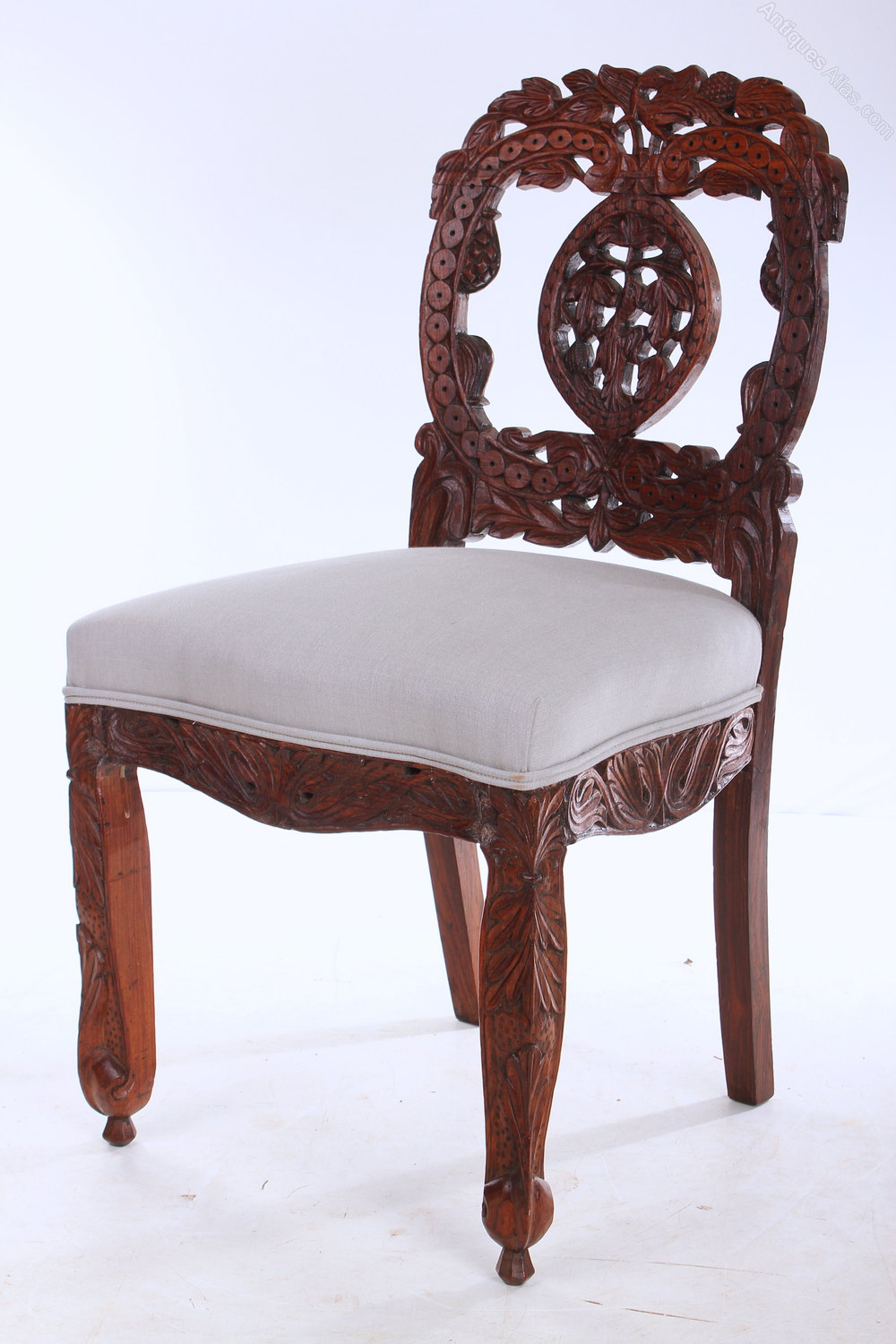 Set Of 6 Anglo Indian Rosewood Dining Chairs Antiques Atlas