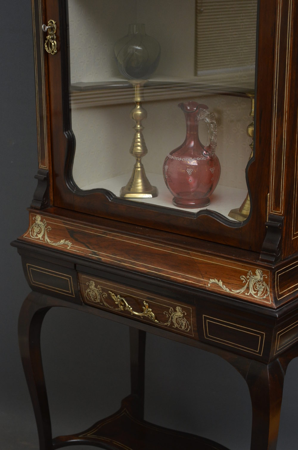 Late Victorian Display Cabinet China Cabinet Antiques