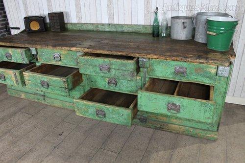Antiques Atlas Large Vintage Work Bench Sideboard