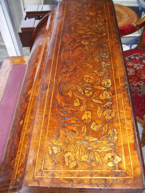 Dutch Rosewood Marquetry Cylinder Top Bureau Antiques Atlas