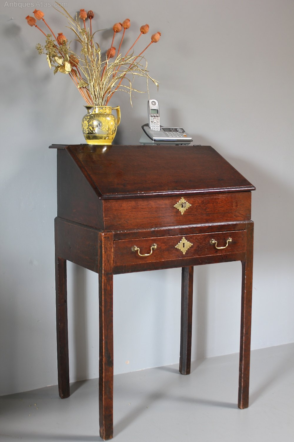 Small 19th Century Slant Top Desk On Legs R415 Antiques Atlas