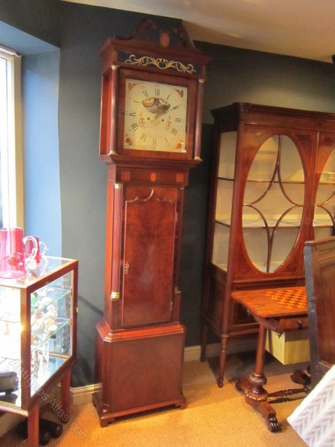 Antiques Atlas Superb George III Sheraton Longcase Clock