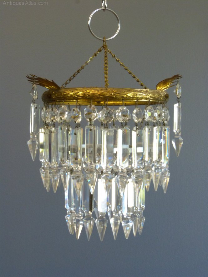 1930s Small Albert Drop Chandelier