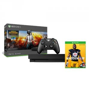Microsoft Xbox One X 1TB PUBG Console Bundle Madden NFL