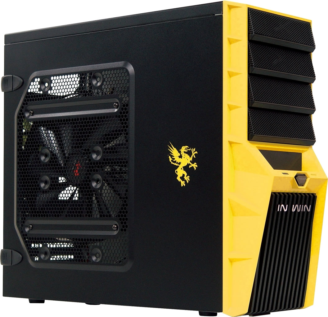 In Win Griffin Midi Tower Mesh BlackYellow Gaming Case