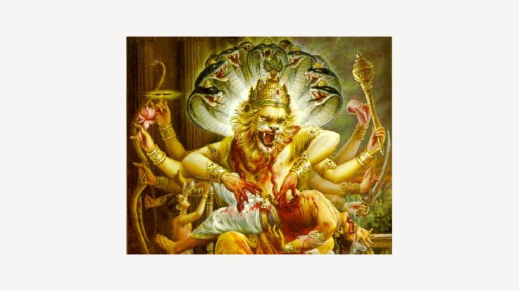 The story of Hiranyakashipu and Prahlada - Narsimha avatar