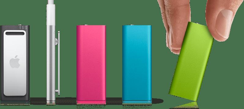 Gama Ipod Shuffle, de colores.