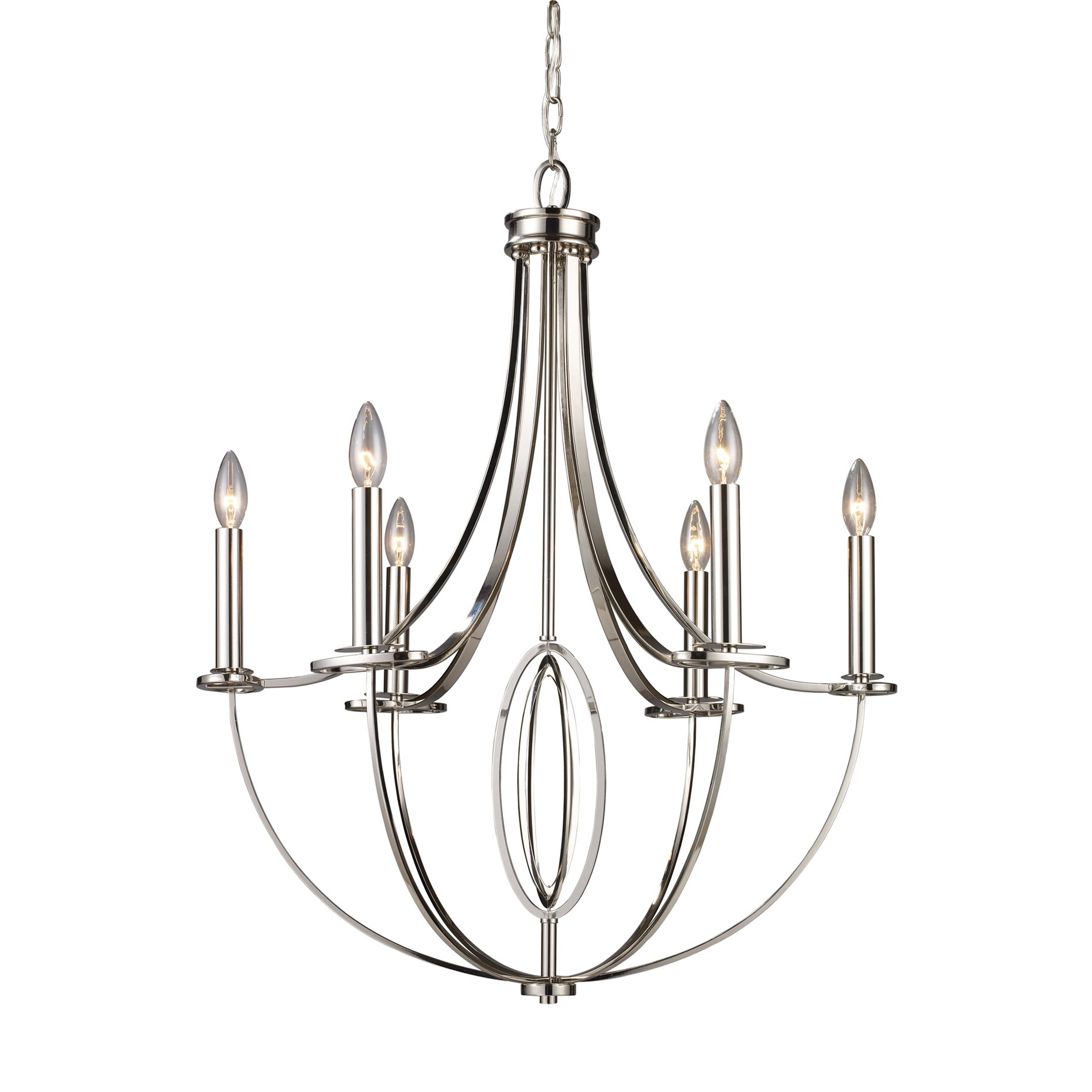 Elk Lighting 6 Dione Contemporary Candle Chandelier