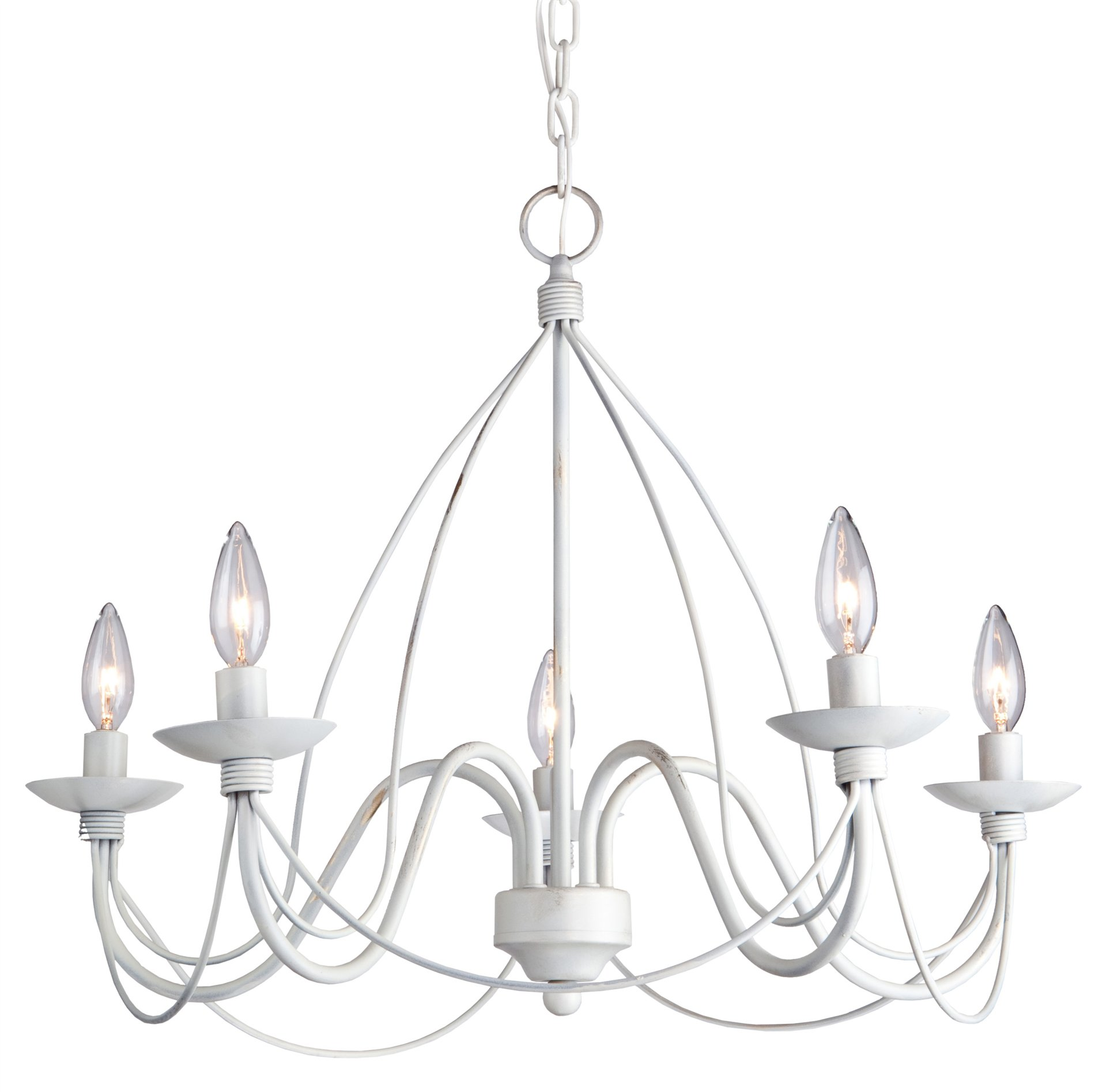 Wrought Iron Transitional Chandelier