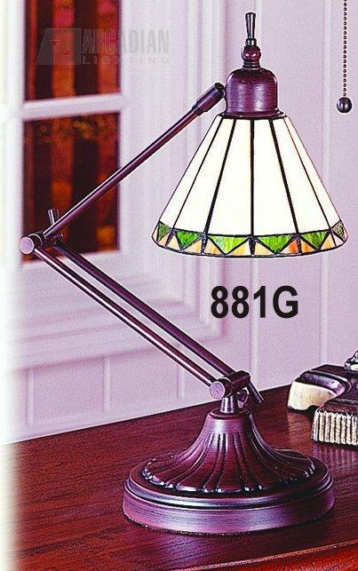 Paul Sahlin Tiffany 881 Adjustable Tiffany Table Desk Lamp
