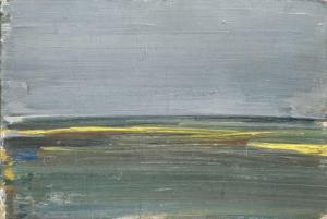 Aguayo, Mai En Brie, huile sur carton, 24x35cm, 1967