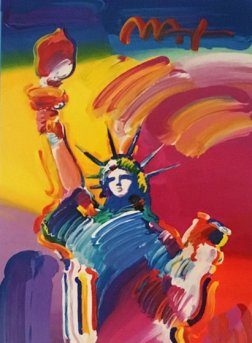 Statue of Liberty Unique 2015 31x14 by Peter Max
