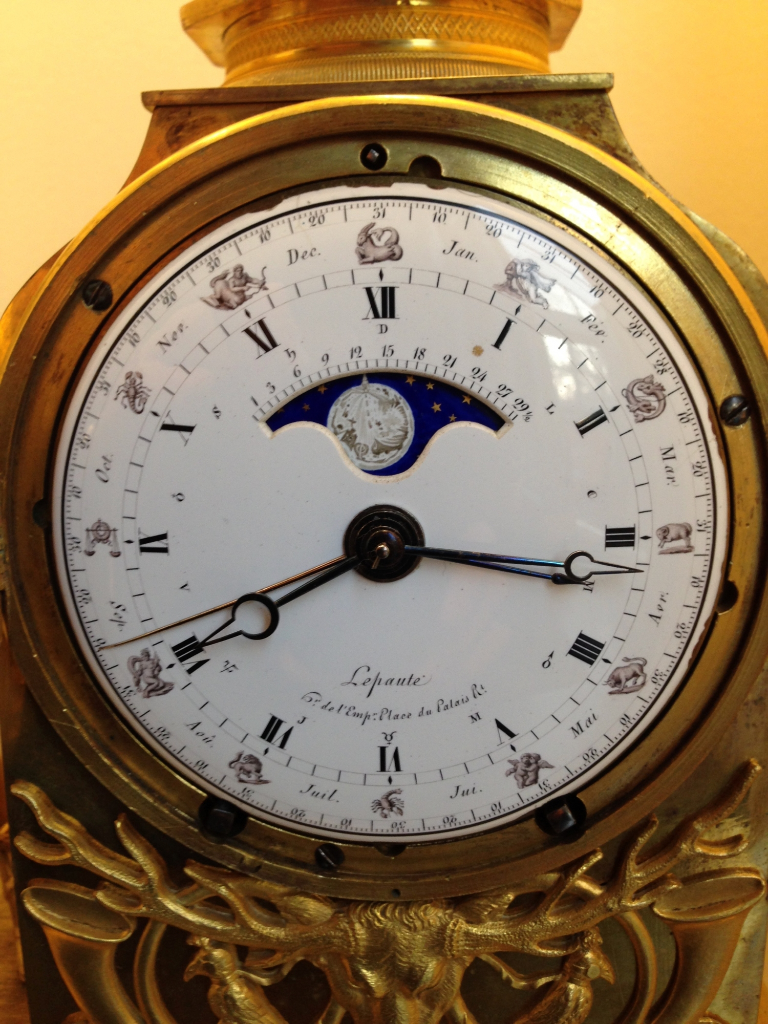 M224 Important French Diana Mantle Clock LePaute ArtListings