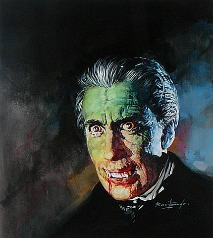 "Basil Gogos, Christopher Lee as Dracula from ""Horror of Dracula"". 1994."