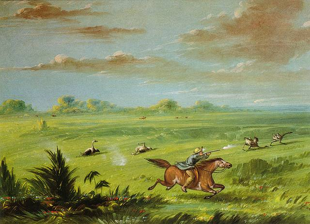 George Catlin, Ostrich Hunt, Buenos Aires