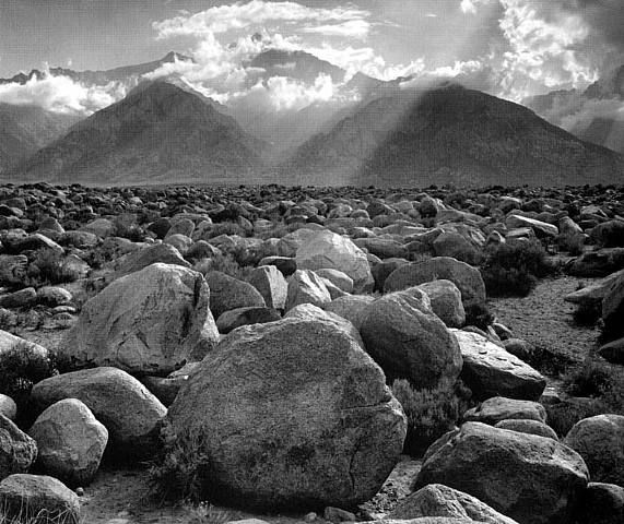 Ansel Adams, Mount Williamson, Sierra Nevada, from Manzanar, CA, 1944