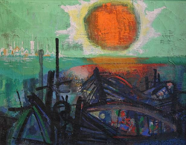 Sunset on Beach - Byron Browne