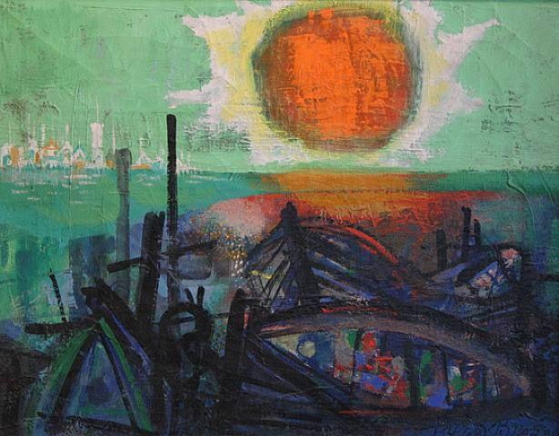 Sunset on Beach - Byron Browne