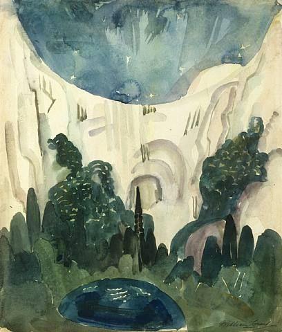 Bridal Veil Falls, Yosemite - William Zorach - 1920